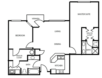 Floor Plan 12 at Pallas Townhomes & Apartments