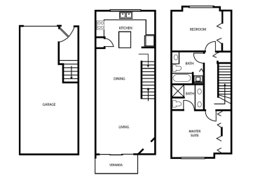 Floor Plan 14 at Pallas Townhomes & Apartments