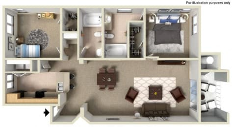 G Floor Plan, at Missions at Sunbow Apartments, 5540 Ocean Gate Lane, CA