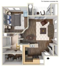 A1 Floor plan, at Rosina Vista, 1551 Summerland Street, CA
