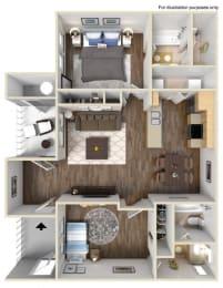 A2 Floor plan, at Rosina Vista, CA, 91913