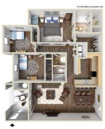 A5 Floor plan, at Rosina Vista, Chula Vista, California