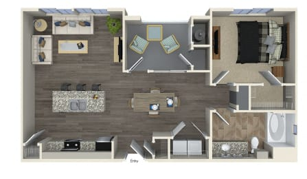 A3 Floor plan, at SETA, 7346 Parkway Dr, CA