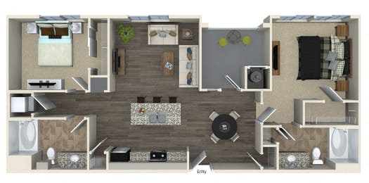 B2 Floor plan, at SETA, La Mesa, CA