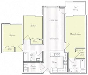 C-6 Floor plan, at Parc One, Santee, 92071