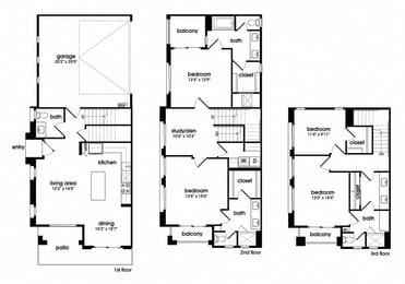 Four Bedroom Three and a half Bathroom