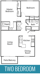 Two bedroom two bathroom 1150 square foot apartment home at The Jameson Apartments, Homewood, 35209