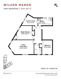 Group Fox - Wilson Manor - Two Bedroom Floorplan