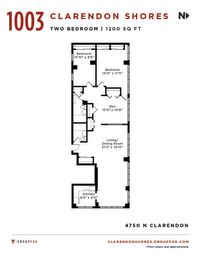 Clarendon Shores Chicago Two Bedroom Apartment