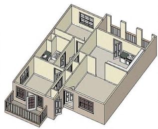 Floor Plan  Westgate Courtyards floor plan image