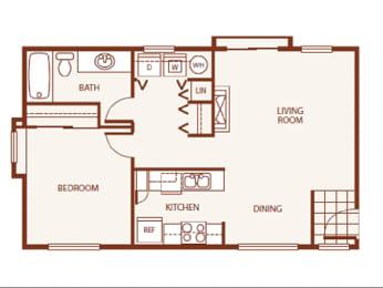 Floor Plan 1 Bed 1 Bath A1