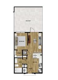 A1 Floor Plan at Brixton South Shore, Austin, 78741