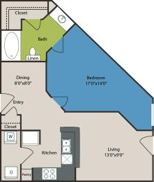 A2 Floorplan in dallas texas apartments
