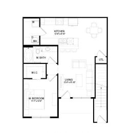 A3 Floor Plan at Hermosa Village, Leander, TX, 78641