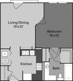 two bedroom 668 square feet in dallas texas apartments