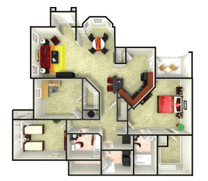 floor plan options in our apartments in webster tx