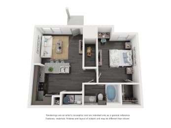 A1 Floor Plan in buda tx apartments