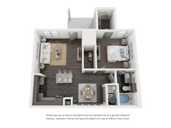 A2 Floor Plan in buda tx apartments