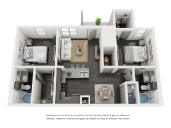 B1 Floor Plan in buda tx apartments