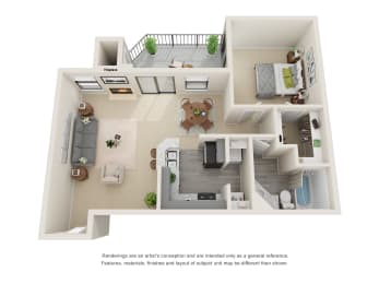 Floor Plan A2 - Renovated
