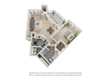 Floor Plan A6 - Renovated