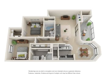 Floor Plan B1 - Renovated