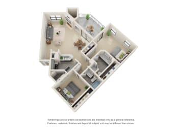 Floor Plan B4 - Renovated