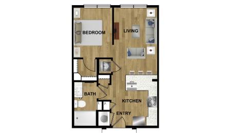S1 Floor Plan at Brixton South Shore, Austin