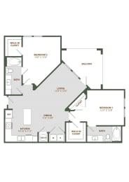 B2 Floor Plan at The Westerly, Winter Garden, FL