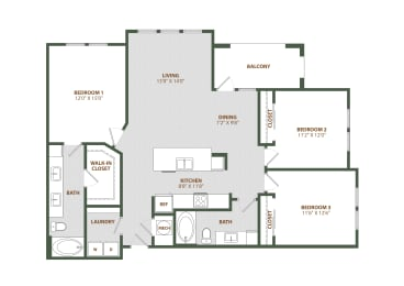 C2 Floor Plan at The Westerly, Florida