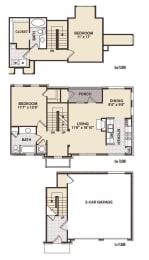 Hyde Park Floor Plan at Providence at Old Meridian, Indiana, 46032