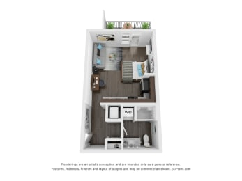 Blueford Studio Apartment Floor Plan The Century Apartments at Purdue Research Park