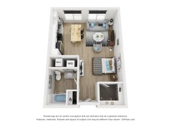 Studio A1 floor plan