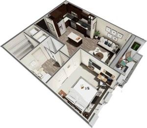 Floor Plan Vest 1B1B