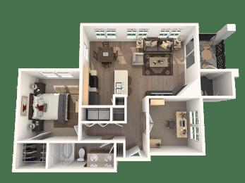Movado one bedroom plus den one bathroom floor plan