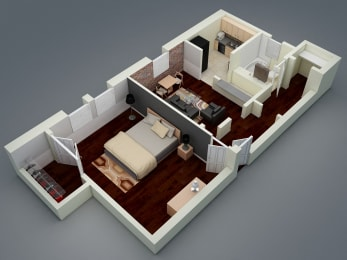 Floor Plan Large One Bedroom