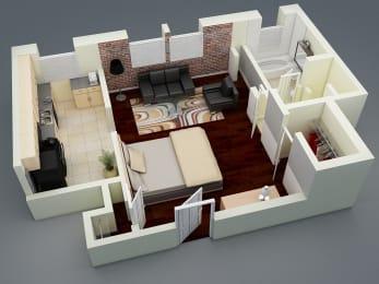 Brookmore Large Studio Floorplan