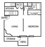 Floor Plan 0S | Studio Apartment