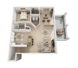 peach 3d floorplan