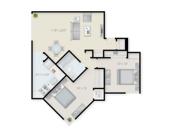 Summit Apartments 2 bedroom apartment