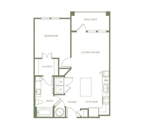 A1 Floor Plan at Alta Longwood, Longwood, 32750