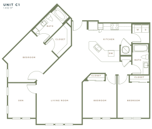 C1 Floor Plan at Alta Longwood, Longwood, Florida
