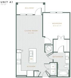 A1 Floor Plan at Alta East Shore, Apopka