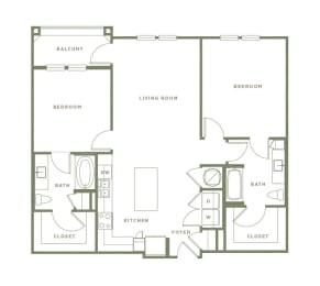 B1 Floor Plan at Alta Longwood, Longwood, FL, 32750