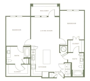B2 Floor Plan at Alta Longwood, Longwood, FL
