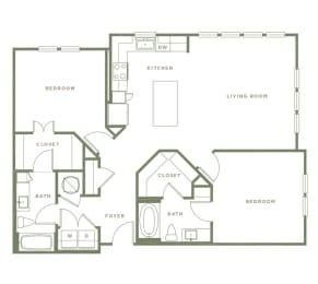 B3.1 Floor Plan at Alta Longwood, Longwood, Florida
