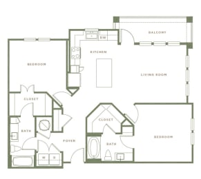 B3 Floor Plan at Alta Longwood, Longwood, 32750