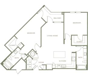 B4 Floor Plan at Alta Longwood, Longwood