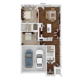 The Ashford Floor Plan at Balcara at Balmoral Luxury Rental Homes, Humble, TX, 77396