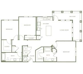 C2 Floor Plan at Alta Longwood, Longwood, FL, 32750